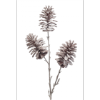Pine cone branch x3 frosted 84cm