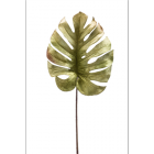 Monstera leaf velvet green 75cm