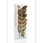 Butterfly with clip x6 gold 10cm